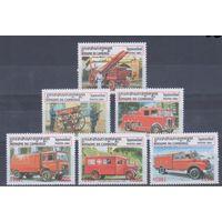 [989] Камбоджа 2001. Пожарные автомобили.
