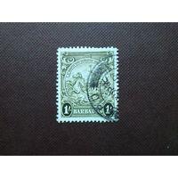 Барбадос 1938/47 гг.Печать колонии.Номинал 1 шиллинг.