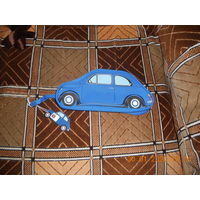 Пенал - сумочка в форме автомобиля Fiat Niova 500