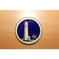 Памятная, настольная, фарфоровая медаль, Германия, диаметр 7 см, хорошее состояние.