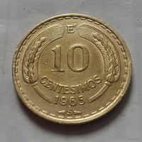10 сентесимо, Чили 1965 г.