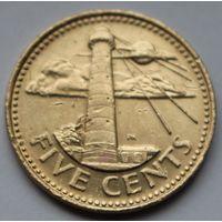 Барбадос, 5 центов 2006 г.