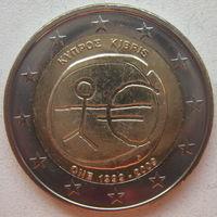 Кипр 2 евро 2009 г. 10 лет монетарной политики ЕС