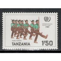 Марка Танзания Пионеры