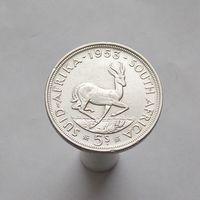 ЮАР 5 шиллингов 1953 серебро Спрингбок