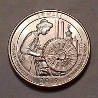 "25 центов, квотер США, нац. парк ""Лоуэлл""  (штат Массачусетс), P  D"