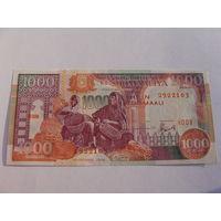 Сомали. 1000 шиллингов 1996 год UNC