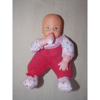 Кукла мягконабивная,  пупс с бутылочкой