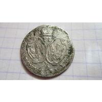 Монета Пруссия 6 грошей. Шостак. 17 век. Серебро.