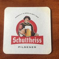 Подставка под пиво Schultheiss No 2