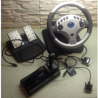 Игровой руль и педали MediaTech CYBER RACE MT-156
