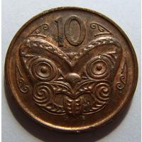 Новая Зеландия 10 центов 2012 г