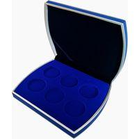 Футляр синий для 6 монет D до 43.7 мм