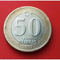 25-17 Турция, 50 куруш 2005 г.