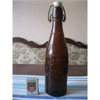 Старинная пивная бутылка. Германия, первая половина 20 столетия.(2).