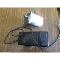 Двигатель и педаль для привода швейных машин.