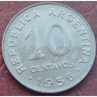 5196:  10 сентаво 1956 Аргентина КМ# 51 никель