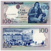 Португалия. 100 эскудо (образца 1984 года, P178c, подпись 4, UNC)