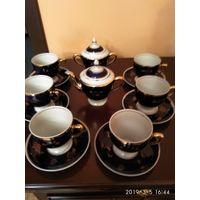 Новый чайный фарфоровый сервиз на шесть персон СССР.
