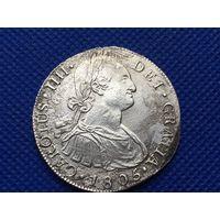 8 реалов 1806 года. Испанская Мексика. Карлос IIII.