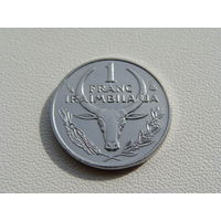 "Мадагаскар. 1 франк 2002 год KM#8  ""Пуансеттия"""