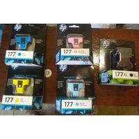 Струйный картридж HP 177 оригинал для HP PhotoSmart 3310/ C5100/ C6100/ C6200/ C7100/ C7200/ D7263 Цвета:  голубой желтый пурпурный сине-голубой черный Срок годности до 2013 года Цена: 10 руб. за шт.