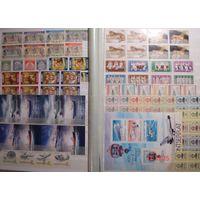 Большой лот чистых иностранных марок, есть редкие, Албания АВИА  1952 года с надпечатками, Исландия буклеты флот, фауна, марки для банкнот ПМР