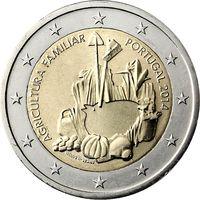 2 евро Португалия 2014 Международный год семейных фермерских хозяйств UNC из ролла
