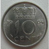 Нидерланды 10 центов 1964 г.