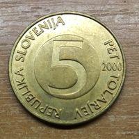 Словения 5 толларов 2000 _РАСПРОДАЖА КОЛЛЕКЦИИ