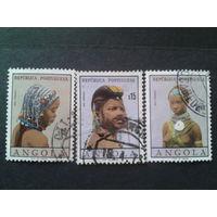 Ангола, колония Португалии 1961 женские прически
