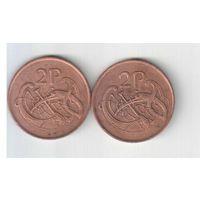 2 пенни 1988 года Ирландии