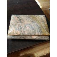 Шкатулка из натурального камня серо-розовый мрамор СССР.