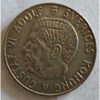 Швеция 1 крона 1966 серебро