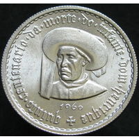 Португалия 5 эскудо 1960 тираж 800 тыс. серебро (255)