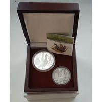 Футляр для 2-х монет (20 р. и 10 р.) D 44 и 37 мм (капсулы) деревянный