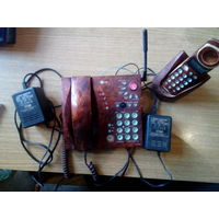 Телефон LG и трубка с базой