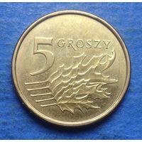 Польша 5 грошей 2017