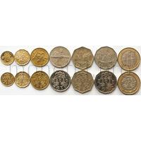 Макао 7 монет 1993-2010 годов. Здания (XF-UNC)