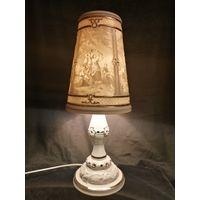 Прикроватная фарфоровая лампа из Германии