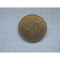 Мальдивы 50 лаари 2008г магнит .km72a