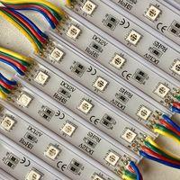RGB ((цена за 2 шт)) 5050 светодиодный модули 0,72 Вт. 3 светодиода. 12 Вольт. Аналог светодиодной ленты