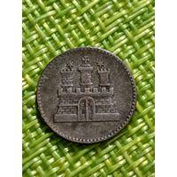 Германия Гамбург 1 сешлинг 1855 г