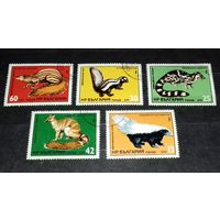 Болгария 1985 Фауна Мелкие хищники полная серия 5 марок
