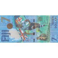 Фиджи 7 долларов 2017 года