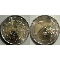 Словакия, 2 евро 2014 10 лет вступления в ЕС. UNC.