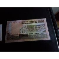 Мадагаскар 500 ариари 1988 год UNC