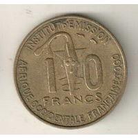 Того Французская Западная Африка 10 франк 1957