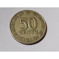 50 центов Литва. 1997 год.