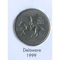 25 центов США 1999 г. штат Дэлавер D